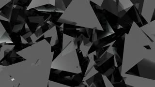Abstract rotating black graphite crystals