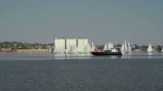 Great sailing regatta dedicated   the Constitution Day  Ukraine, Nikolaev 28 June 2013. Start at 11.00 am