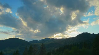 The movement of clouds high in the Carpathian Mountains (Timelapse)