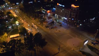 Ukraine Mykolaiv city. 10,07,2013 View from the roof of a 16-storey building in the center.Time Lapse