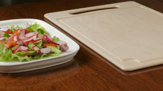 Vegetable salad,  healthy food at kitchen