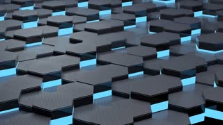 3d moving texture of honeycombs, animation