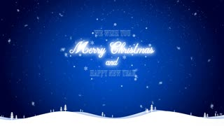 Merry Christmas and happy new year background blue
