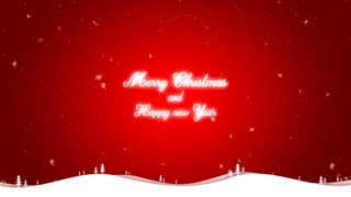 Merry Christmas and happy new year background red