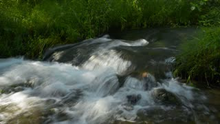 Waterfall, river, mountains, nature.  Crimea.   (Time Lapse)