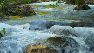 Waterfall, river, mountains, nature.  Crimea.