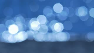 3 in 1 video! The beautiful bokeh by water surface texture background and coast lake(river). Real time and slow motion capture.