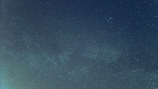 3 in 1 video! The forest view from the bottom by sky with stars. Time lapse capture
