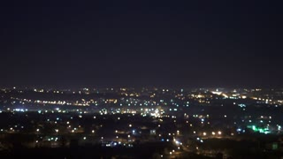 5 in 1 video! The blur light of the night city. Real time capture. Wide angle
