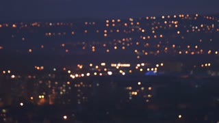 5 in 1 video! The blur light of the night city. Real time capture. Wide anlge