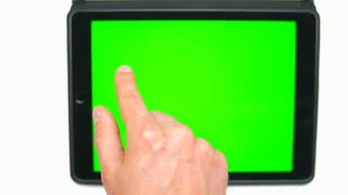 Camera follow the arm! Pad touch screen (green screen, alpha)
