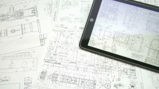 The tablet (ipod) by blueprint engineering project background