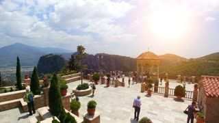 11.06.2018 Greece, Thessaly, historical place of a Meteora. time lapse