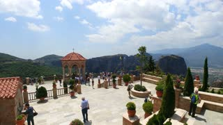 11.06.2018 Greece, Thessaly, historical place of the Meteora. time lapse