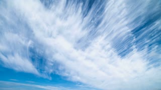 The beautiful cloud stream in the sky. time lapse
