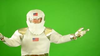 astronaut do not understand - green screen