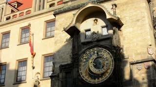 Astronomical Clock: Clock - Prague, Czech Republic - closeup - sunny