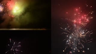 Montage (compilation) - Detonating fireworks (firecrackers) to celebrate the new year