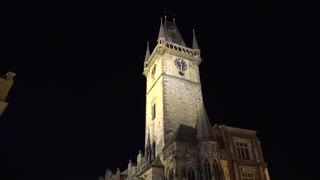 night city - Old Town Square - The Old Town Hall with Prague astronomical clock