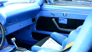 old vintage American car - interior of car