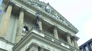 Slowmotion view on historical building - museum