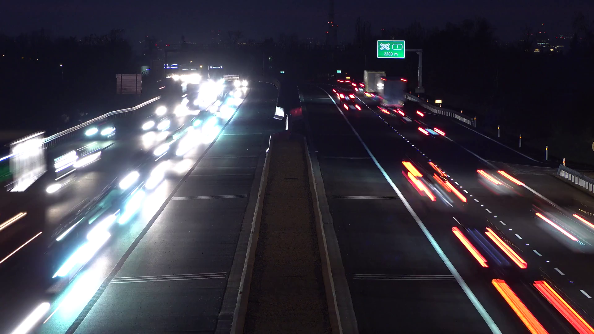 A Time Lapse Of A Busy Highway At Night With Lots Of Cars That Go By Stock Video Footage Storyblocks