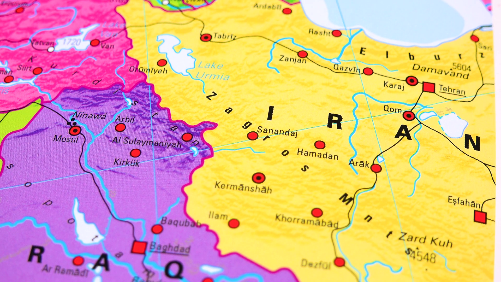 Image of: Iran On A Political Map Closeup Stock Video Footage Storyblocks