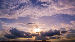cloud sky time lapse , cloud moving and sun light 4K resolution video