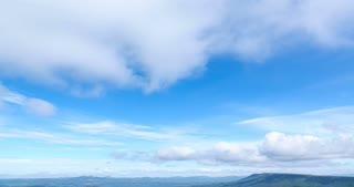 cloud sky time lapse , cloud moving and sun light.