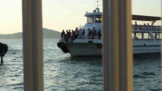 BIG ISLAND, TURKEY - SEPTEMBER, 2009: A passenger ferry arrives at Büyük Ada (Big Island)