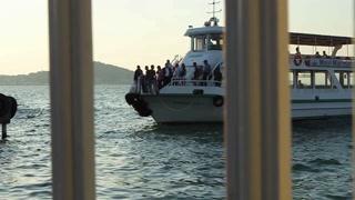 BIG ISLAND, TURKEY - SEPTEMBER, 2009: A passenger ferry arrives at Büyük Ada (Big Island)