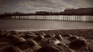 Brighton Beach with the new pier in background, UK