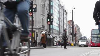 LONDON, UK - FEB, 2012: Busy traffic on Oxford Street