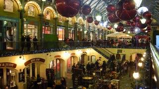 LONDON, UK - NOVEMBER 30, 2012: Christmas decorations in Covent Garden