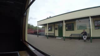 PETERBOROUGH, UK - OCTOBER 9, 2015: Timelapse showing the journey from Peterborough to Wansford station on the Nene Valley Railway