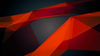 Abstract geometric composition from chaotic slow moving surface of triangles and lines 4K