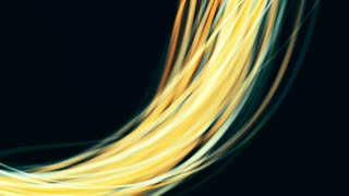 Background animation of flowing streaks of light, abstract animation.