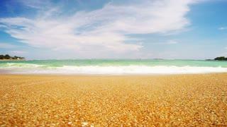 coastline Sri Lanka, beach, sand and the Indian Ocean