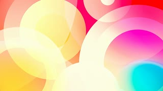 colorful circles and squares video background glassy and transparent circular shapes