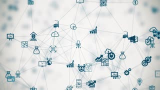 internet of things slow motion a lot of connections between things, cloud technology