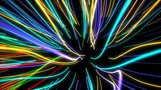 neon glowing lights lines