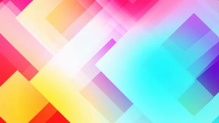 slow motion of colourful shapes, video background glassy and transparent circular shapes
