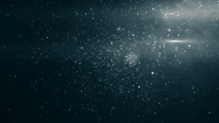 Slow motion of the blurred and glowing particles 4K