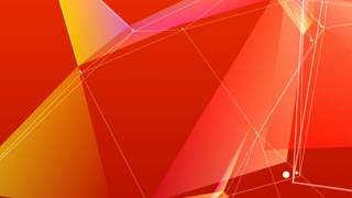 Abstract colored polygonal crystal surface. Geometric poly triangles slow motion 4K background