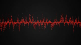 Abstract colorful audio wave on black background, seamless loop abstract animation
