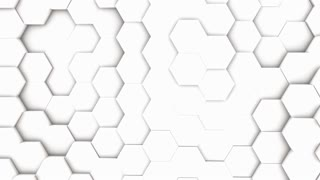 abstract hexagon geometric surface, light bright clean minimal hexagonal grid pattern, random waving motion background canvas in pure wall architectural white