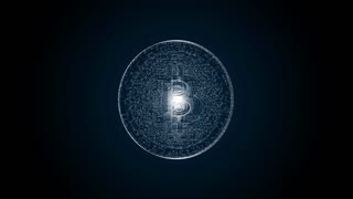 Bitcoin - cryptography digital currency coin, spinning loopable 4K animation