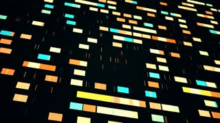Data mining progress, 4K abstract animation with moving squares