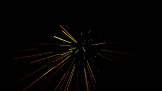 glowing waved lines, abstract 4K video background