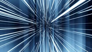 silhouette of a human figure moving in the space through the teleport, hyperspace jump 4K abstract video animation